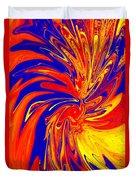 Red Blue Orange Red Yellow Swirl Duvet Cover