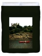 Red Boat In Newport Duvet Cover