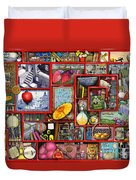 Red Box Duvet Cover