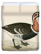 Red Breasted Goose Duvet Cover