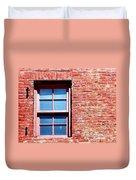 Red Brick Window Duvet Cover