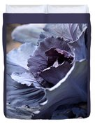 Red Cabbage Abstract Duvet Cover
