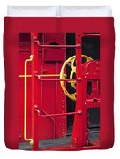 Red Caboose Duvet Cover