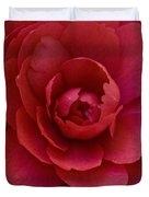 Red Camellia Duvet Cover