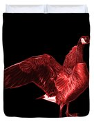 Red Canada Goose Pop Art - 7585 - Bb  Duvet Cover
