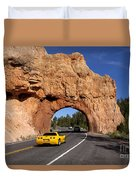 Red Canyon Near Bryce Canyon In Utah Duvet Cover