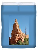 Red Canyon Rock Formation Duvet Cover