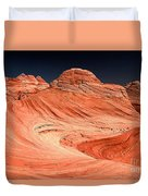 Red Canyon Swirls Duvet Cover