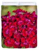 Red Carnations Duvet Cover by Omaste Witkowski