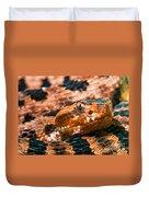 Red Carolina Pygmy Rattlesnake Duvet Cover