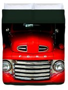 Red Cheeks Ford Duvet Cover