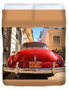 Red Chevrolet Duvet Cover