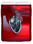 Red Chevy Hood Ornement Duvet Cover