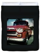 Red Chevy Pickup Duvet Cover