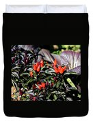 Red Chili Peppers Duvet Cover