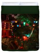 Red Christmas Bell Duvet Cover