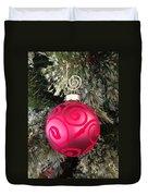 Red Christmas Ornament Duvet Cover