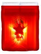 Red Christmas Star Duvet Cover by Gaspar Avila