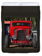 Red Classic Hotrod Duvet Cover