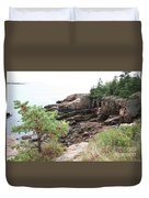 Red Cliffs Of Acadia  Duvet Cover