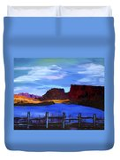 Red Cliffs On The Colorado Duvet Cover
