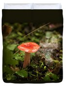 Red Coral Mushroom Duvet Cover