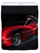 1997 Red Corvette Duvet Cover