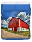 Red Country Barn Duvet Cover