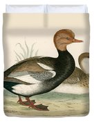 Red Crested Whistling Duck Duvet Cover