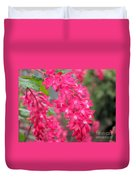 Red-flowering Currant Blossom Duvet Cover