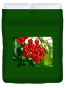 Red Currants Ribes Rubrum Duvet Cover