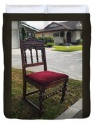 Red Cushion Chair Duvet Cover