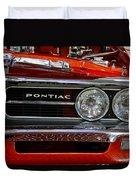 Red Customized Retro Pontiac-front Left Duvet Cover