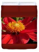 Red Dahlia Starlet Duvet Cover