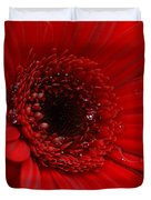 Red Daisy Duvet Cover