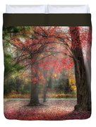Red Dawn Square Duvet Cover by Bill Wakeley