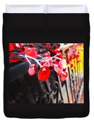 Red Decorations Duvet Cover