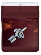 Red Delta 88 Rocket Duvet Cover