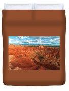 Red Desert Landscape Duvet Cover