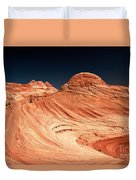 Red Desert Swirls Duvet Cover