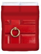 Red Door 01 Duvet Cover