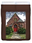 Red Door Church Duvet Cover