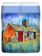 Red Door Cottage Duvet Cover