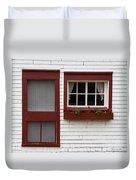 Red Door Red Window Duvet Cover