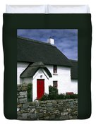 Red Door Thatched Roof Duvet Cover