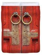 Red Doors 02 Duvet Cover