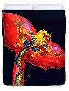 Red Dragon Kite Duvet Cover