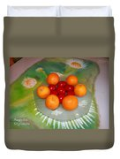 Red Eggs And Oranges Duvet Cover