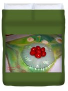 Red Eggs And Daisies Duvet Cover