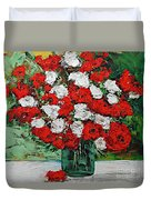 Red Explosion Duvet Cover